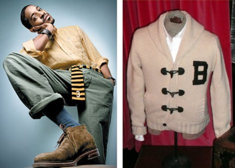 Andre 3000 with Benjamin Bixby sweater